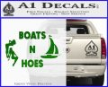 Boats And Hoes Decal Sticker Green Vinyl Logo 120x97