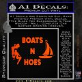 Boats And Hoes Decal Sticker Orange Emblem 120x120