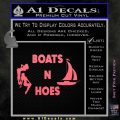 Boats And Hoes Decal Sticker Pink Emblem 120x120