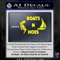 Boats And Hoes Decal Sticker Yellow Laptop 120x120