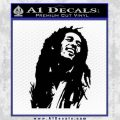 Bob Marley Decal Sticker Black Vinyl 120x120