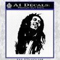 Bob Marley Decal Sticker Black Vinyl 120x120