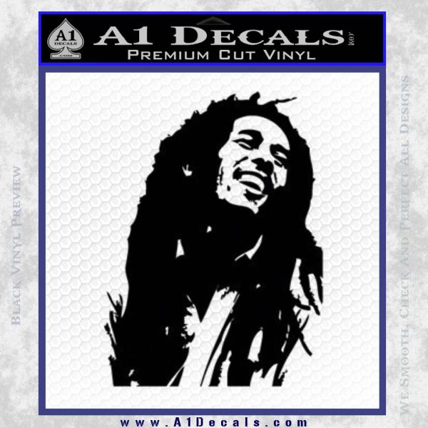 Bob Marley Decal Sticker Black Vinyl