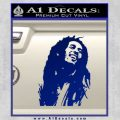 Bob Marley Decal Sticker Blue Vinyl 120x120
