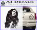 Bob Marley Decal Sticker Carbon FIber Black Vinyl 120x97