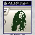 Bob Marley Decal Sticker Dark Green Vinyl 120x120