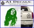 Bob Marley Decal Sticker Green Vinyl Logo 120x97