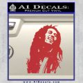 Bob Marley Decal Sticker Red 120x120