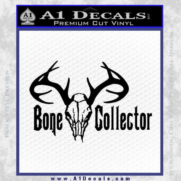 Bone collector decal sticker deer black vinyl