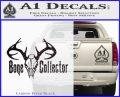 Bone Collector Decal Sticker Deer Carbon FIber Black Vinyl 120x97
