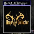 Bone Collector Decal Sticker Deer Gold Vinyl 120x120
