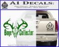 Bone Collector Decal Sticker Deer Green Vinyl Logo 120x97