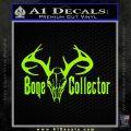 Bone Collector Decal Sticker Deer Lime Green Vinyl 120x120