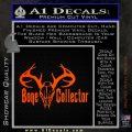 Bone Collector Decal Sticker Deer Orange Emblem 120x120