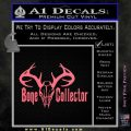 Bone Collector Decal Sticker Deer Pink Emblem 120x120