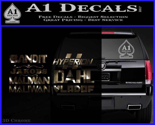 Borderlands All Gun Companies Decal Sticker » A1 Decals
