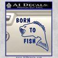 Born To Fish Decal Sticker Blue Vinyl 120x120