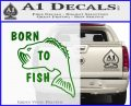 Born To Fish Decal Sticker Green Vinyl Logo 120x97