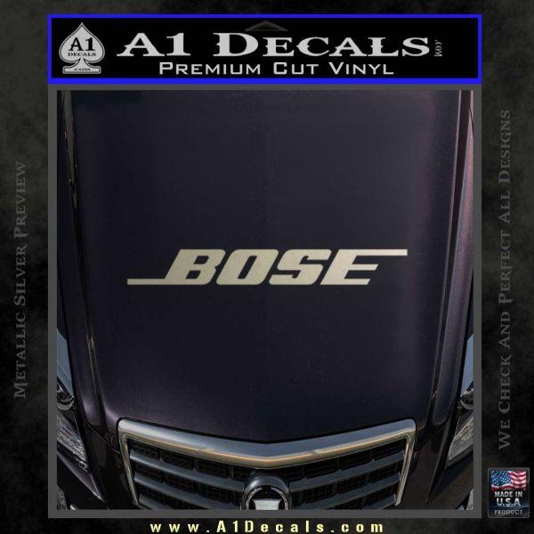 Bose decal sticker 2 pack metallic silver emblem 120x120