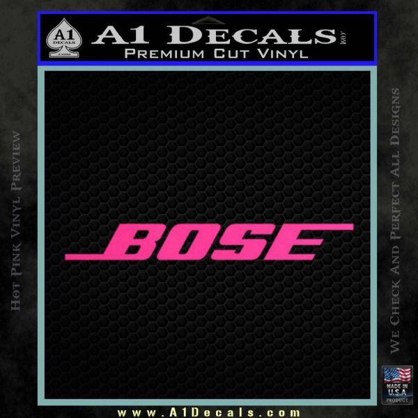 Logo 120x97 bose decal sticker 2 pack pink hot vinyl 120x120