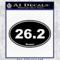 Boston Marathon 26.2 Decal Sticker Black Vinyl 120x120