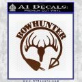 Bow Hunter Circle Arrow Decal Sticker BROWN Vinyl 120x120