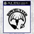 Bow Hunter Circle Arrow Decal Sticker Black Vinyl 120x120
