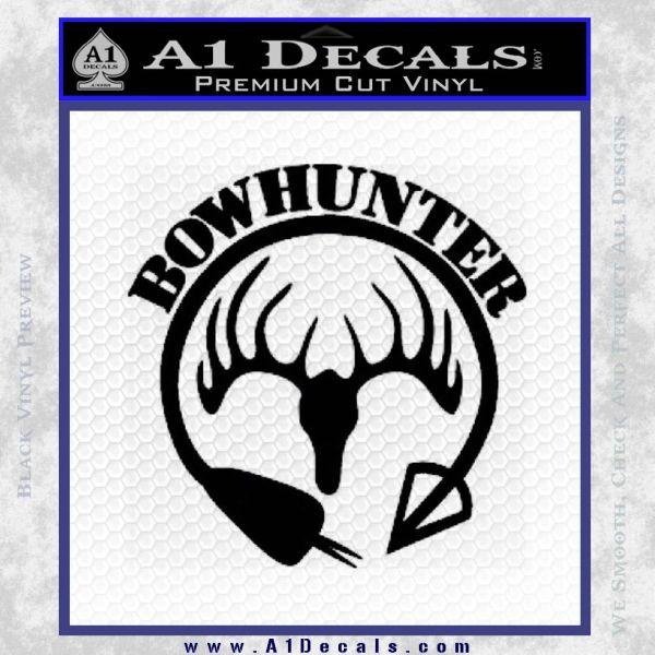 Bow Hunter Circle Arrow Decal Sticker Black Vinyl