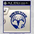 Bow Hunter Circle Arrow Decal Sticker Blue Vinyl 120x120