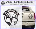 Bow Hunter Circle Arrow Decal Sticker Carbon FIber Black Vinyl 120x97