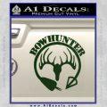Bow Hunter Circle Arrow Decal Sticker Dark Green Vinyl 120x120
