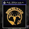 Bow Hunter Circle Arrow Decal Sticker Gold Vinyl 120x120