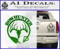 Bow Hunter Circle Arrow Decal Sticker Green Vinyl Logo 120x97