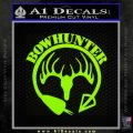 Bow Hunter Circle Arrow Decal Sticker Lime Green Vinyl 120x120