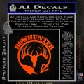 Bow Hunter Circle Arrow Decal Sticker Orange Emblem 120x120