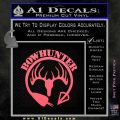 Bow Hunter Circle Arrow Decal Sticker Pink Emblem 120x120