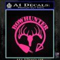 Bow Hunter Circle Arrow Decal Sticker Pink Hot Vinyl 120x120