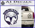 Bow Hunter Circle Arrow Decal Sticker PurpleEmblem Logo 120x97