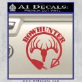 Bow Hunter Circle Arrow Decal Sticker Red 120x120