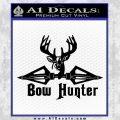 Bow Hunter Decal Sticker Intricate Black Vinyl 120x120