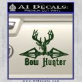 Bow Hunter Decal Sticker Intricate Dark Green Vinyl 120x120