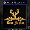 Bow Hunter Decal Sticker Intricate Gold Vinyl 120x120