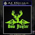 Bow Hunter Decal Sticker Intricate Lime Green Vinyl 120x120