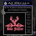 Bow Hunter Decal Sticker Intricate Pink Emblem 120x120