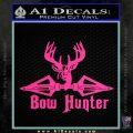Bow Hunter Decal Sticker Intricate Pink Hot Vinyl 120x120