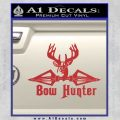Bow Hunter Decal Sticker Intricate Red 120x120