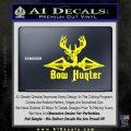 Bow Hunter Decal Sticker Intricate Yellow Laptop 120x120