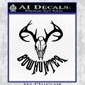 Bow Hunter Decal Sticker Skull Black Vinyl 120x120