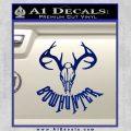 Bow Hunter Decal Sticker Skull Blue Vinyl 120x120