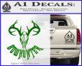 Bow Hunter Decal Sticker Skull Green Vinyl Logo 120x97